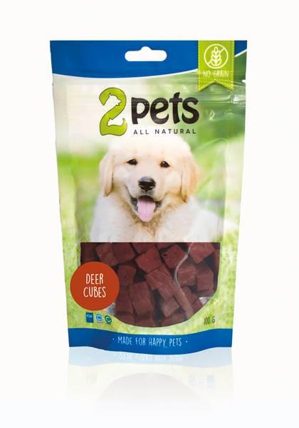 2pets Dogsnack Deer Cubes, 100 g